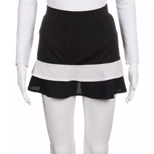 Tail black white tiered tennis skirt skort Medium
